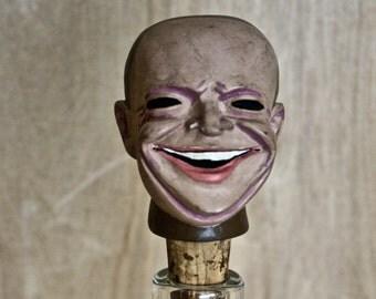 Eisenhower Achatit Figurine Bottle Stopper/ c. 1940s/ Vintage Political Memorabilia/ President Dwight D. Eisenhower