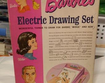 Vintage Barbie Electric Drawing Set