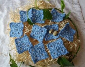 Handmade crochet granny squares set of 10