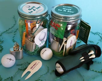 Golf In A Jar ™ - The Perfect Gift for Golfers! Everything Golfers Need, All In A Jar! Great Gift for Coaches, Players, Bosses, Coworkers...