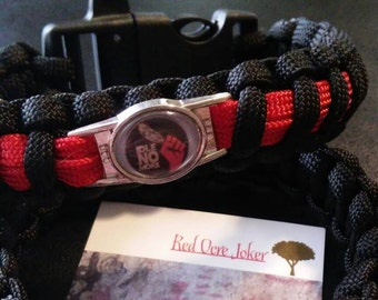Idle No More Charm Paracord Bracelet with Whistle Buckle