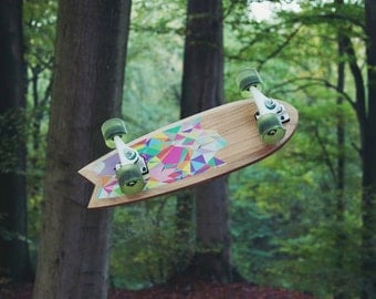 "Cruiser Wood Swallow Tail 23.6 ""trucks carver CX"
