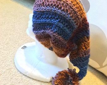 Soft Boho Slouchy Beanie Crochet Cap Wizard Hat