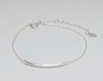 Tiny Bar Sterling Silver Bracelet, Dainty Bracelet, Delicate Bracelet, Sterling Silver Jewelry, Gift for Her