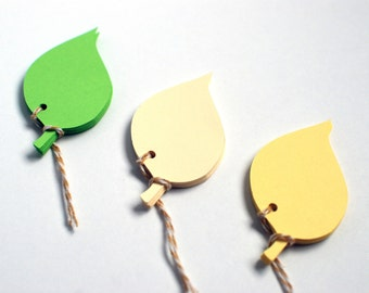 Gift Tags Leaves, Paper Leaf Tags, Gift Tag Leaves, Hang Gift Tagsl, Blank Paper Leaf Tags, Green Ivory Yellow Paper Leaves
