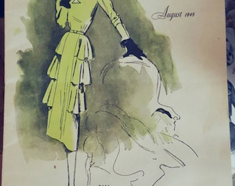 August 1948 McCall Style News Sewing Pattern Advertising Booklet