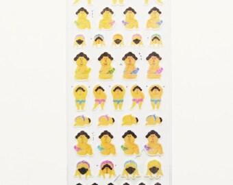 Kawaii Sumo Wrestler Stickers, Planner Stickers, Washi Stickers Sheet