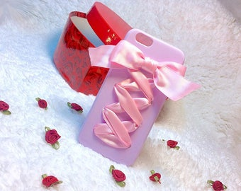 Cute Pastel Laced up Ribbon iPhone 6/6s Soft Case
