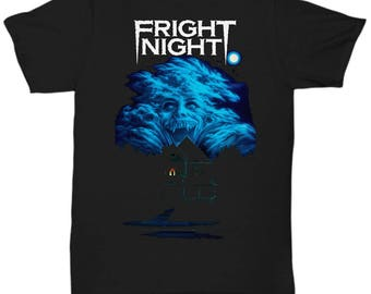 Fright Night 1985 Horror Movie Vampires Dracula classic cult vampire film shirt Tee T-shirt  S - 5XL  Black 3