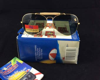 Vintage Foster Grant aviator sunglasses - Winston Cigarettes promotional glasses - brand new original box
