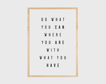 Inspirational Wall Art, Motivational Quote, Motivational Wall Decor, Motivational Printable, Quote Prints, Typography Print, Printable Quote