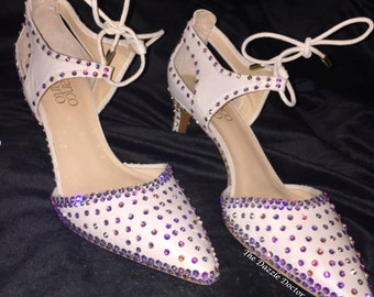 Bling heels, Bling shoes,Bling flats, Mother of the Bride shoes,Swarovski shoes,Swarovski shoes, Strassed Shoes, Strassed Heels, Swarovski