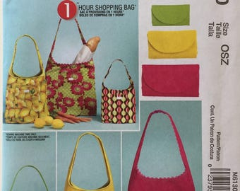 McCalls Fashion Accessories M6130 1 Hour Bag Uncut Out of Print Pattern Copyright© 2010