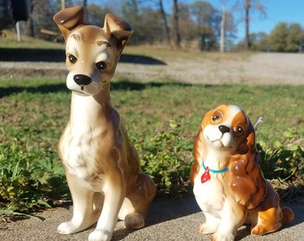 "1950s Lady and the Tramp 5"" figurines"