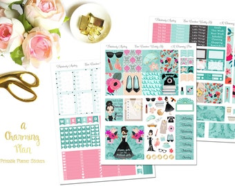 Fabulously Audrey - Printable Planner Stickers - Instant Download