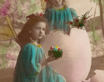EASTER FAIRIES POSTCARD