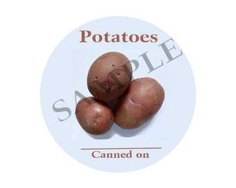 Potatoes  Round Canning Label #L365