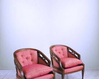 spaceage ATOMIC hollywood regency FRENCH PROVINCIAL mid century slipper chairs