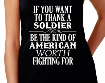 Thank a Soldier quote t-shirt