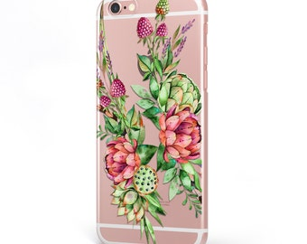 iPhone - Samsung Galaxy - TPU Soft Rubber Cell Phone Case - Florel Fruits - High quality Soft Silicon-Designed and Printed in USA