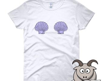 Mermaid Shell Shirt, Mermaid Shirt, Fantasy Shirt, Mermaid T Shirt, Mermaid Seashell Shirt, Under the Sea Shirt, Nautical Shirt, Ladies Tee
