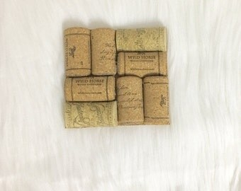 Wine Cork Coasters - Set of 4 with Cork Bottoms. FREE SHIPPING! Ready to Ship in 1 Business Day!!