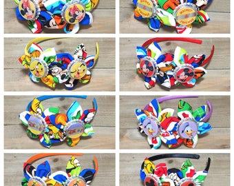 Disney Headbands- Minnie Mouse Headband; Mickey Mouse Headband; ;;Donald Duck Headband; Pluto Headband; Goofy Headband; Girls Headbands