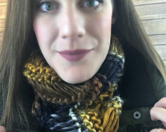 Infinity Scarf - crochet scarf, jewel tones, mobius cowl, knit scarf, knit cowl, infinity cowl, chunky scarf, chunky cowl - Twilight