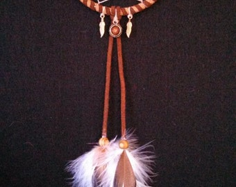 Whimsical Brown Owl Dreamcatcher