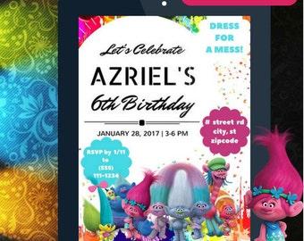 Trolls Party Invitation [Personalized]
