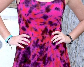 Tie Dye Open Back Dress