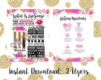 What is LipSense Graphic - Watercolor Floral