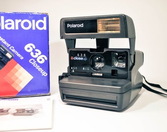 Polaroid Close Up 636. Polaroid Camera in Original Box. Vintage Camera. Retro Camera