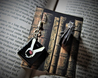 Miniature book Jewelery Earrings Twilight