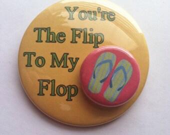 Flip Flop Button, Flip Flop Magnet, Flip Flop Gift, Flip Flop Party, Summer Party Gift, Summer Party Favor, Flip Flop Badge, Flip Flop Pin