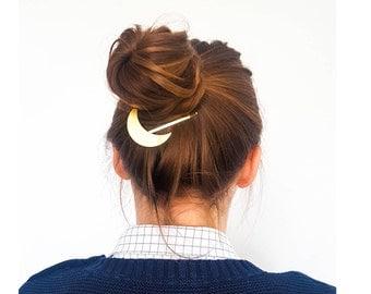 Bridal hair pin - gold hair clip - geometric hair pin - modern barrette - boho clip - best friend gift - sister gift - gold barrette - MANEN