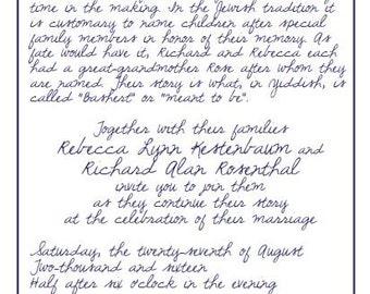 Custom Letterpress Invitation