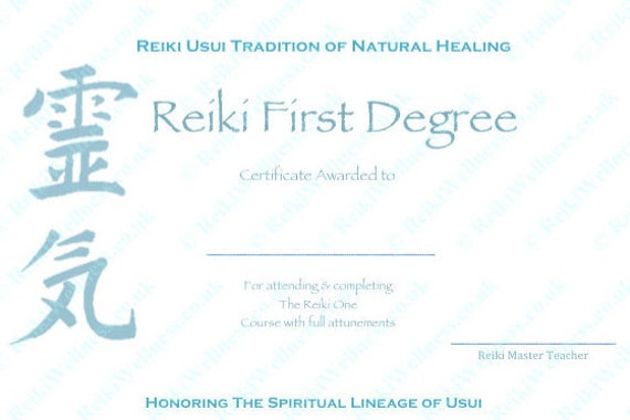 reiki level 1 certificate template download complete set reiki certificate templates x4