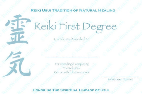 Download Complete Set Reiki Certificate Templates x4