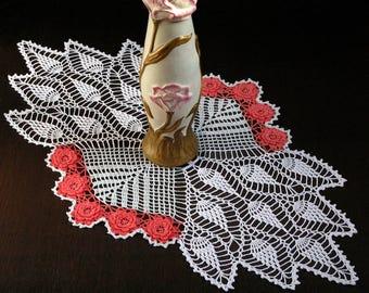 Large Doily Crochet Doily Housewarming Gift for Mom Home Decor Table Decor Room Decor Crochet Flowers Table Topper Table Cover Table Runner