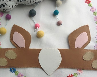 Bambi, Fox, Rabbit or Badger head band for dressing up fancy dress and festivals