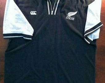 Vintage Clothing, 90's Rare, Canterbury Of new Zealand, made In Canada, All Black, Rugby Union, Size M