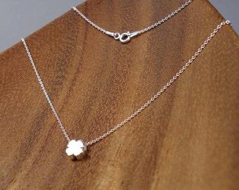 CLOVER, Sterling Silver Necklace, Sterling Silver Pendant, 3D, CLOVER