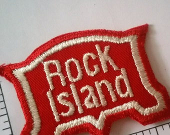 Free US Shipping / 1970s Vintage Rock Island Railroad Patch / train / embroidered / rail / railway/ line / Chicago / route of the Rockets