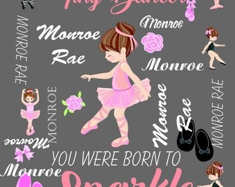 Personalized name ballet blanket