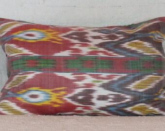 Turkish Ikat Pillow, 12x18 Pillow Cover