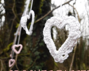They Dance! Heart Garland (Bunting) PATTERN - Crochet Heart Garland (Bunting) - Fun Bridal Shower Garland - US and UK pattern