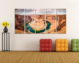 Horseshoe bend wall art, Horseshoe bend canvas print, fine art large canvas art, wall art canvas, home decor nature canvas art print, 7s98