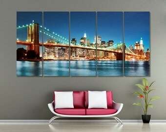 City Panoramic Photo Canvas Print - Bridge Framed ExtraLarge Canvas Prints - High Quality Made in Europe Canvas prints_LC002