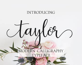 Modern calligraphy font - Digital font - Handwritten font - Watercolor font - Wedding font - Brush Font - Font for Photoshop. Font instant